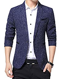 Homme Slim Fit Veste Blazer Costume Manteau Jacket Un Bouton Veste De  Costume Slim 85cd3c80186