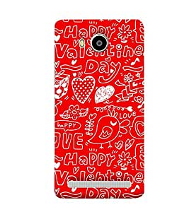 Bluethroat hearts love couple valentines togetherness Back Case Cover for Lenovo A7700