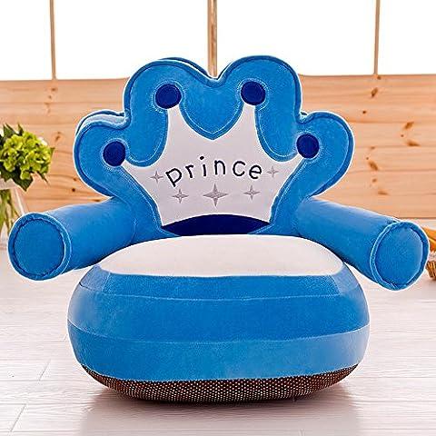 memorecool Haustierhaus gefüllt Weich Krone dunkelblau Kinder Weich Plüsch Cartoon Sofa, abnehmbarer Bezug Plüsch Stuhl, (Giorno Chair Pad)