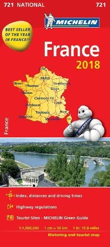 France 2018 National Map 721 (Michelin National Maps)