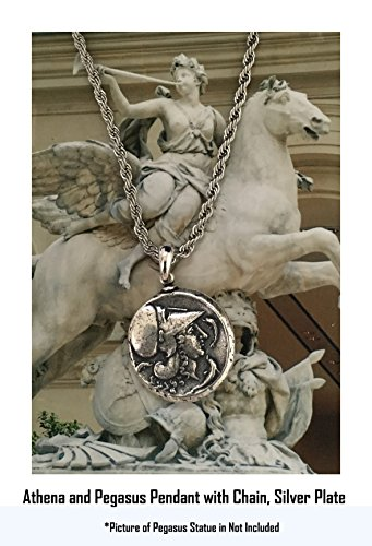 Griechische Götter und Göttinnen Collection # 2spen, Athena und Pegasus Anhänger und Kette