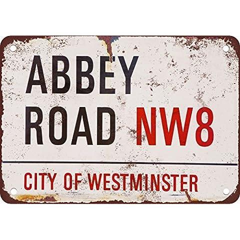The Beatles Abbey Road Vintage Look reproducción Metal Tin Sign 7X 10pulgadas