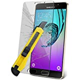 (Pack Of 1) Samsung Galaxy A5 2016Film Protection écran en Verre Trempé [Versions: A510F A510M / A510FD / A5100 / SM-A510Y] (Pack Of 4) Housse pour Samsung Galaxy A5 2016 étui Protecteurs Screen Couverture Protections d'écran Crystal Clear LCD Packs + Chiffon & Application Carte