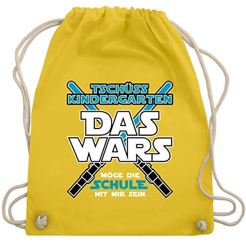 Einschulung und Schulanfang - Das Wars Kindergarten Blau - Unisize - Gelb - WM110 - Turnbeutel & Gym Bag