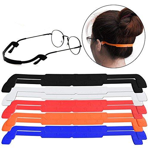 10 Stück/Pack] Silikon Brillenband Brillenhalter für Sport Anti-Rutsch Elastische Brillen Sonnenbrillen Schnurhalter für Männer Frauen Augenschutz zufällige Farben (Sonnenbrillen-gurt Frauen)