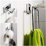 Set de 3 accessoires Mezzo salle de bains - Porte rouleau de toilettes + serviettes