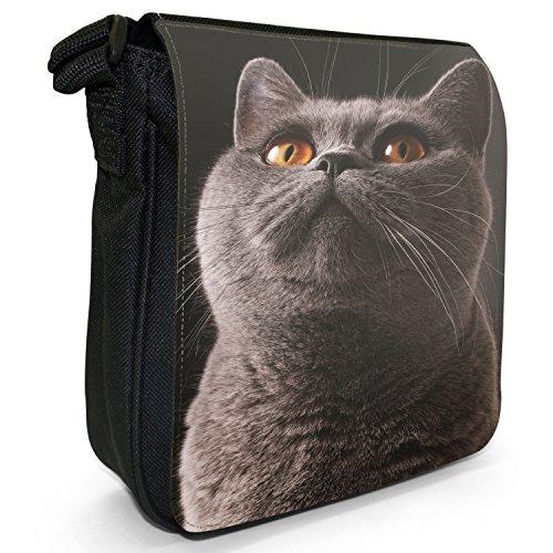 Fancy A Snuggle, Borsa a tracolla donna Katze mit gelben Augen schaut nach oben