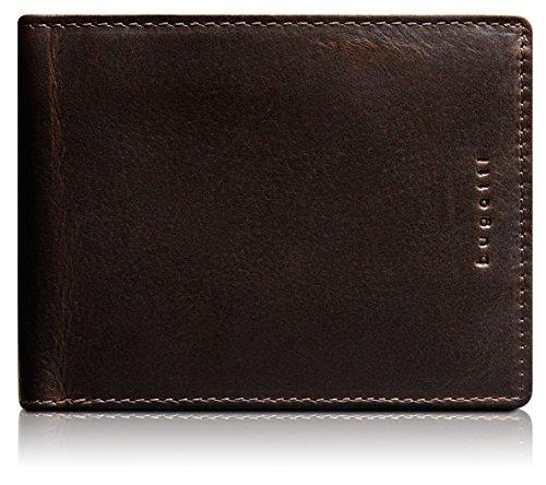 Bugatti Romano Geldbörse Echtleder, Querformat, Braun