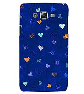 PrintDhaba Heart Pattern D-1471 Back Case Cover for SAMSUNG GALAXY ON 7 (Multi-Coloured)