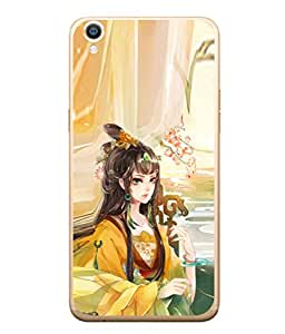 PrintVisa Designer Back Case Cover for Oppo F1 Plus :: Oppo R9 (Princess In Colourful Design)
