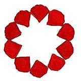 Seda Rosa Pétalos Confeti De La Boda 1000 Piezas (Rojo)