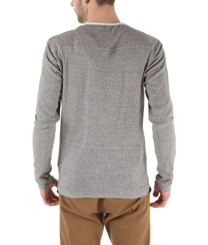 Selected Homme Herren Langarmshirt Knopfleiste Stoke Is Double Shirts 10866 Grey Melange