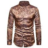 Herren Hemden Palast Adel Stehkragen Hemd Slim fit Langarm Herbst College Jacke Students T Shirt...