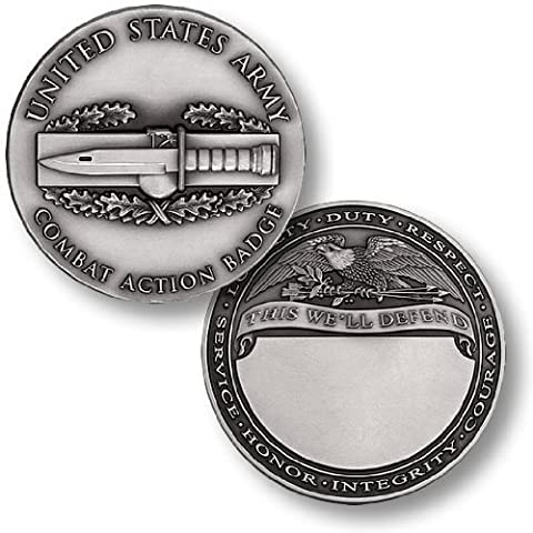 Combat Action Badge Engravable Challenge Coin by Northwest Territorial Mint