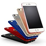 Rose Gold Sehr Dünn Hülle Schutzhülle Case + Displayschutzfolie für Apple iPhone 7 Vooway® MS70195 -