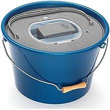 Plastilys-Cubo para cebo vivo y oxigenador integrado, azul, 25 L
