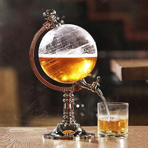 FYQF Bier Wasserspender, Erde Aussehen Trinkbehälter Einzigen Kopf Pumpe Bar Party Dekanter Whisky Rotwein Saft Tee Kaffee