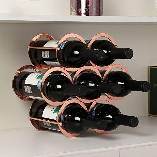Himamk Cave à vin modulable, Étagère à Bouteille, Casier à Bouteille, Range Bouteille, Porte Bouteille 7 Bouteilles de vin 0.66kg,Brown