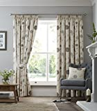 Rosemont Pencil Pleat Curtains in Natural