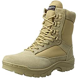Mil-Tec Tactical Side Zip Botas Khaki tamaño 7 UK / 8 US