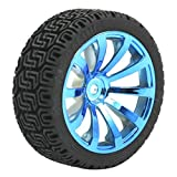 Dimart RC Smart Cars Truck Spare Parts Blue 12mm Hub 1:10 Drift Wheel Tire