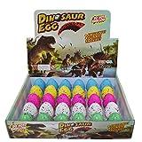 Yeelan Dinosaur Eggs Il Giocattolo cova Crescente Dino Dragon per Bambini Dimensioni Confezione Grande di 30pcs, Punti Colorati Modello