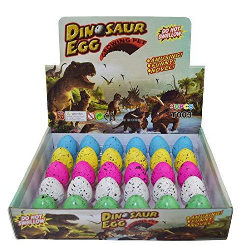 Yeelan Dinosaurier-Eier Toy Brut wachsenden Dino Dragon für Kinder große Packung von 30 Stück, Bunte Punkte Muster -