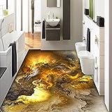Chlwx 400cmX280cm (157.5inX110.69in) 3D-Bodenbeläge Tapeten Moderne Persönlichkeit Abstract Wolken 3D Bodenfliesen Schlafzimmer Badezimmer Pvc Selbstklebend, Wasserfest 3D Wandbild