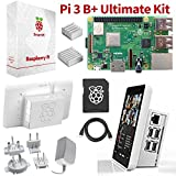 """Raspberry Pi 3 B+ Ultimate Starter Kit – Complete 'Touch & Teach' Package w/Pi3 B+ Motherboard, 7"""" Touchscreen Display, 32GB Preloaded NOOBS, Official Case, 2 Heatsinks & HDMI & Power Cables (WHITE)"""