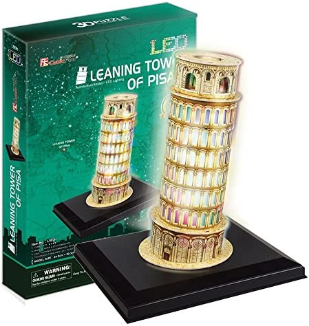 PUZZLE 3D 3D 3D AVEC LED TOUR DE PISE 15 PIECES | Outlet Store Online