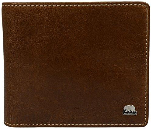 Preisvergleich Produktbild Brown Bear Geldbörse Leder Herren vintage braun Country 4