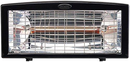 Semptec Außenheizstrahler: Infrarot-Außen-Heizstrahler IRW-1500 mit Goldröhre, 1.500 Watt, IPX4 (Heizstrahler Balkon) - 2