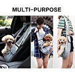 OHANA Pet Reversible Sling Carrier Bag Hands-Free Dog Travel Carrier Bag with Adjustable Strap Double-sided Pouch… 13