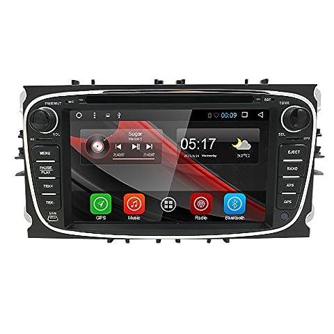 hizpo 8inch Car Audio Stéréo Double DIN dans Dash for
