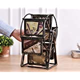 Urbancart Table Top Windmill Photo Frame With Rotating Ferris Wheel Picture Frame (Small,Brown)