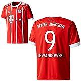 Adidas FC Bayern München FCB Home Trikot 2017 2018 Herren Kinder mit Spieler Name rot Farbe Lewandowski, Größe 152