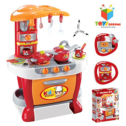 Toys-Bhoomi-Interactive-Little-Chef-Kids-Kitchen-Play-Set-with-Light-Sound