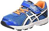 ASICS - GT 1000 4 TS - C555N - Chaussures d'athlétisme - Bébé, Bleu / Orange / Blanc / Noir, 21