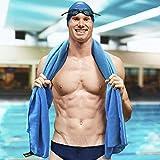 Extragroßes Mikrofaser Handtuch, schnelles Trocknen, saugfähig & kompakt für das Fitnessstudio, Schwimmen, Reisen & Mehr 180 x 90 cm – Big Jim - 2