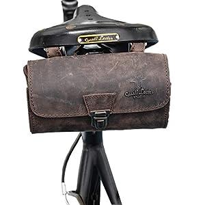51TChiZCJhL. SS300  - Gusti Bolsa para sillín Cuero - Wolfgang L. Bolso de Herramientas Bolsa de Bicicleta Bolsa de Herramientas marrón…