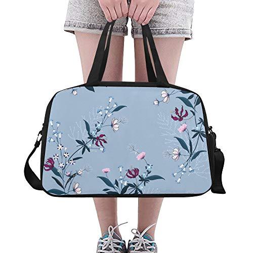 Floral Botanical Motive Blume Große Yoga Gym Totes Fitness Handtaschen Reise Seesäcke Schultergurt Schuhbeutel für die Übung Sport Gepäck für Mädchen Männer Womens Outdoor - Coach Womens Hobo