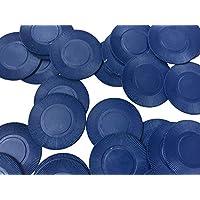 Boîte de 500 jetons Fins/compteurs de Boisson/jetons de Poker - Environ 39 mm, Bleu