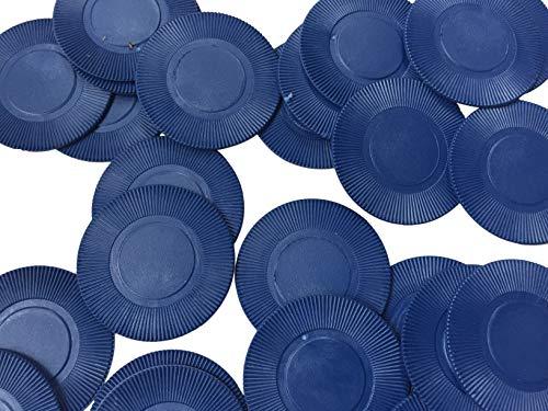 Box mit 500 dünnen Chips/Getränkekugeln/Poker-Chips – ca. 39 mm, blau