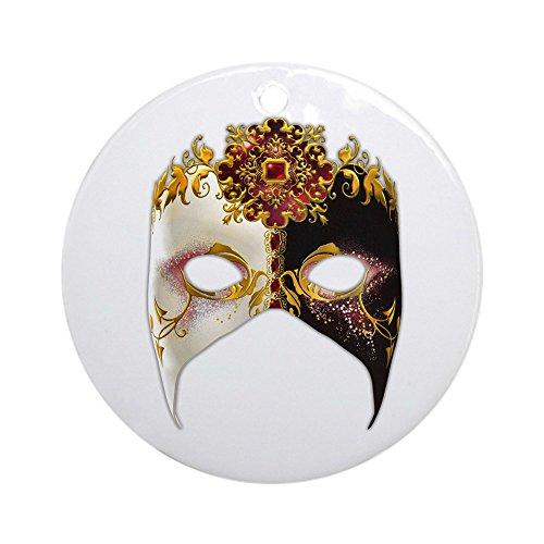 CafePress–Venezianische Maske: Ruby Schmuck Jewel (rund)–Rund Urlaub Weihnachten -