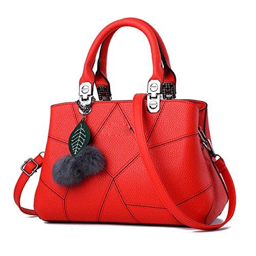 Frauen-Art- Und Weisetote-Schulter-Beutel-Dame-großer Entwerfer-Faux-Leder-neuer Handtaschen-Damen-Art- Und Weisegroßer Hobo-Beutel Red