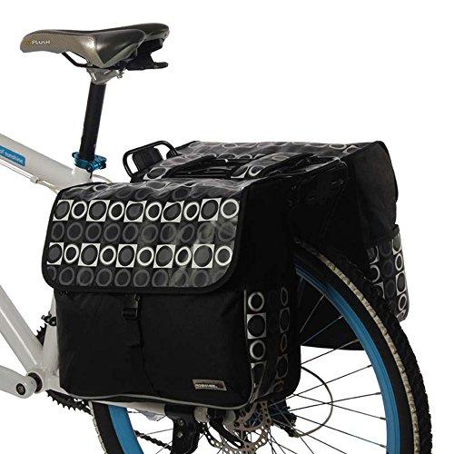 Gepäckträgertasche Fahrrad 3 in 1 Radtaschen für Gepäckträger Wasserdicht Rucksack 37L 28L Schwarz
