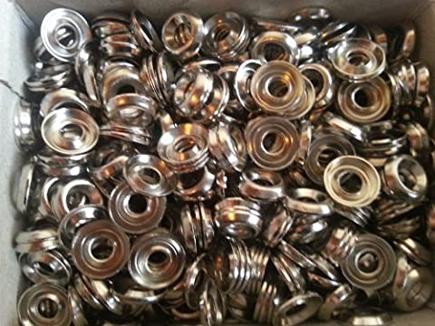 Pack of 100 Screw rosette Nickel-Plated 10 x 3.9 MM 356 / 10