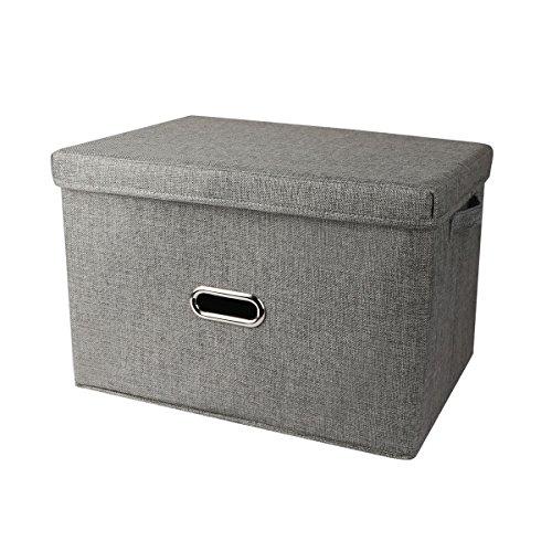 Foto de PDR Caja de almacenamiento de tela plegable cubos de cesta para juguetes, ropa, libros, ropa de cama, arte y manualidades