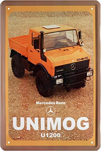Tin Sign Blechschild 20x30 cm LKW Unimog U 1200 Werbung von MB Werkstatt Plakat