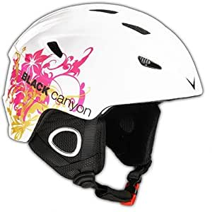 Black Canyon Casque ski Blanc/graphique L 59-60 cm